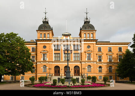 Oulu City Hall (1885) in summer. Finland. Cloudy day - Stock Photo