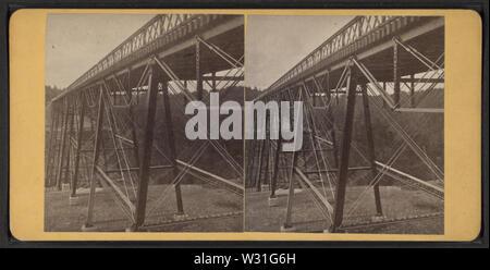 Portage Bridge, Erie RR, by Reid, John, II --1835-1911, 1835-1911 4 - Stock Photo