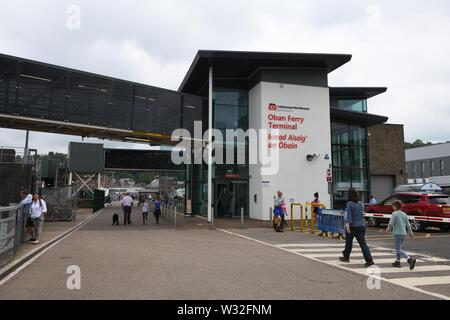 The Caledonian MacBrayne Ferry terminal in Oban, Scotland, UK, Europe - Stock Photo