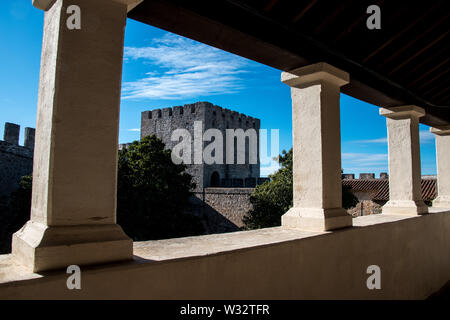 The courtyard of Elvas in Portugal - Stock Photo