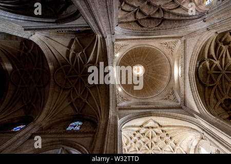 The ceiling of the cathedral of Segovia, Spain - Stock Photo