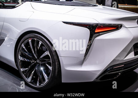 Geneva, Switzerland, March 2019 Lexus LC Convertible Concept Prototype Car, Geneva International Motor Show, produced by Japanese car maker Lexus - Stock Photo