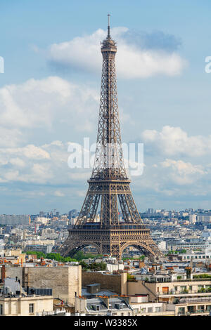 Eiffel tower, famous landmark and travel destination in France, Paris - Stock Photo