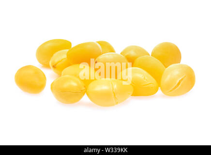 Ginkgo nuts isolated on white background - Stock Photo