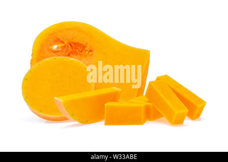 butternut squash slice isolated on white background - Stock Photo