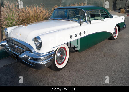 Image of a ca. 1955 Buick Roadmaster shown parked on October 13, 2016 in Pasadena. - Stock Photo