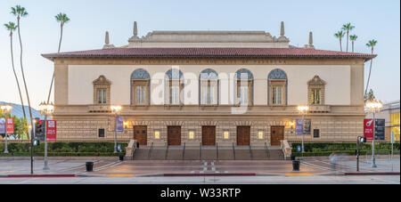 The Pasadena Civic Auditorium was built in 1931 and it's best known for being the home for the Emmy Awards from 1977 until 1997. - Stock Photo