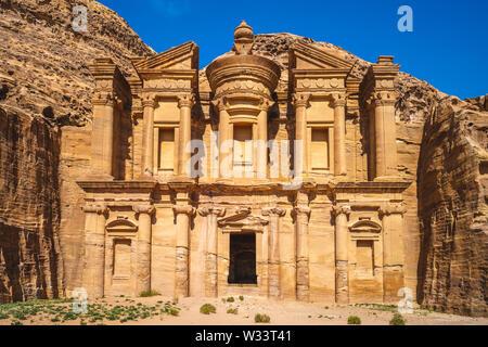 Ad Deir (The Monastery) at petra, jodan - Stock Photo