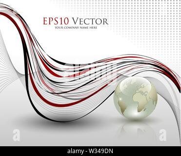 Abstract office composition - vector illustration - Stock Photo