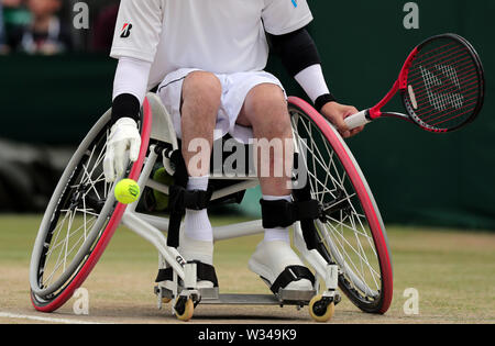 Wimbledon, London, UK. 12th July 2019. Wheelchair Tennis, The Final Of The Quad Wheelchair Doubles, 2019 Credit: Allstar Picture Library/Alamy Live News Credit: Allstar Picture Library/Alamy Live News - Stock Photo