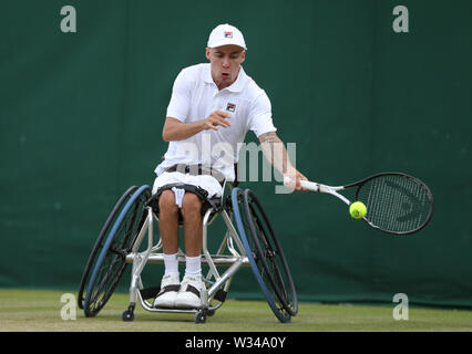 Wimbledon, London, UK. 12th July 2019. Andy Lapthorne, Great Britain, 2019 Credit: Allstar Picture Library/Alamy Live News Credit: Allstar Picture Library/Alamy Live News - Stock Photo