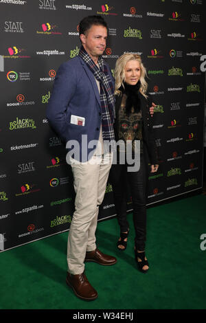 Sydney, Australia. 12th July 2019. Jack and the Beanstalk Giant 3D musical spectacular red carpet at the State Theatre. Pictured: Danielle Spencer. Credit: Richard Milnes/Alamy Live News - Stock Photo