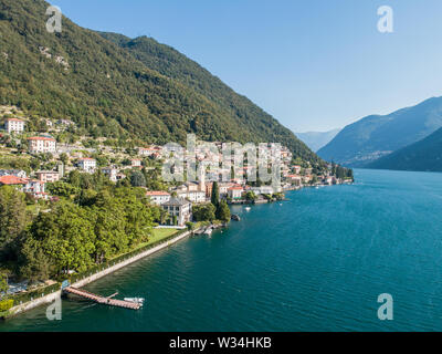 Villa Oleandra, Laglio. George Clooney residence on Como lake in Italy. - Stock Photo