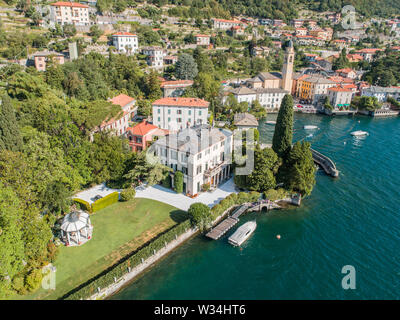 George Clooney house, Villa Oleandra, village of Laglio on Como lake in Italy - Stock Photo