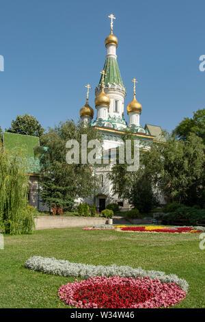 Church of St Nicholas the Miracle-Maker, Sofia, Bulgaria - Stock Photo