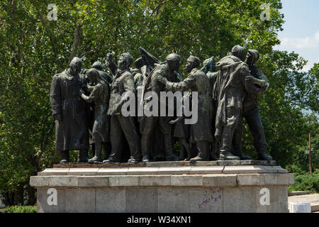 Soviet Army Monument, Sofia, Bulgaria Stock Photo