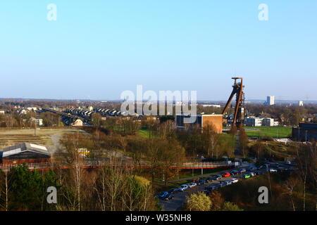 Blick auf das stillgelegte Steinkohle-Bergwerk Zeche Ewald in Nordrhein-Westfalen, Deutschland - Stock Photo