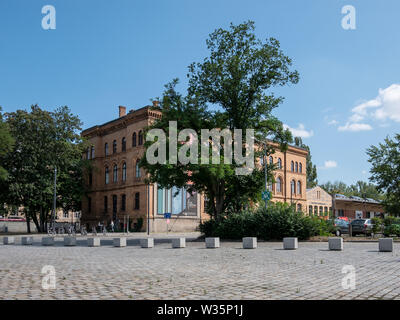BERLIN, GERMANY - JULY 10, 2019: In Front of Deutsches Technikmuseum, German Museum of Technology, In Berlin In Summer - Stock Photo