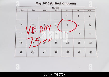 May 2020 Calendar With Holidays Uk.Uk May Bank Holiday Moved From 4 To 8 May 2020 To Celebrate 75 Years