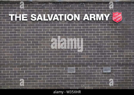 Paisley, Renfrewshire / Scotland - July 11th 2019: The Salvation Army building opening - Stock Photo