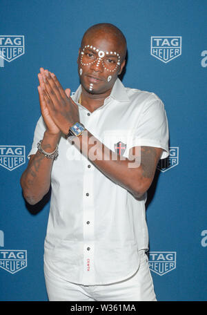 New York, NY - July 10, 2019: Young Paris attends TAG Heuer celebration of 50 years of the iconic Monaco Timepiece at Cipriani Broadway - Stock Photo