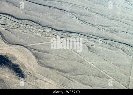 Whale Biomorph at Nazca Lines in Peru - Stock Photo