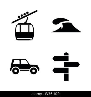 Tourism, Travel, Adventure. Simple Related Vector Icons Set for Video, Mobile Apps, Web Sites, Print Projects and Your Design. Tourism, Travel, Journe - Stock Photo