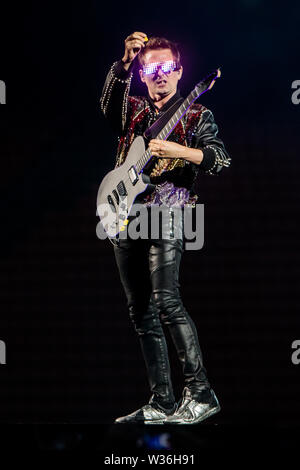 Muse performs live at Stadio San Siro in Milano, Italy, on July 12 2019 - Stock Photo