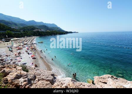 The beautiful Adriatic coast of Montenegro. - Stock Photo