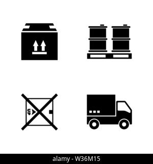 Express delivery. Simple Related Vector Icons Set for Video, Mobile Apps, Web Sites, Print Projects and Your Design. Black Flat Illustration on White - Stock Photo