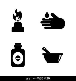 Science. Simple Related Vector Icons Set for Video, Mobile Apps, Web Sites, Print Projects and Your Design. Black Flat Illustration on White Backgroun - Stock Photo