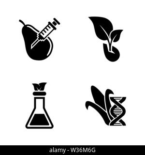 GMO, Dna Food Modification. Simple Related Vector Icons Set for Video, Mobile Apps, Web Sites, Print Projects and Your Design. GMO, Dna Modification i - Stock Photo