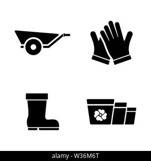 Gardening Grower Tools. Simple Related Vector Icons Set for Video, Mobile Apps, Web Sites, Print Projects and Your Design. Gardening Grower Tools icon - Stock Photo