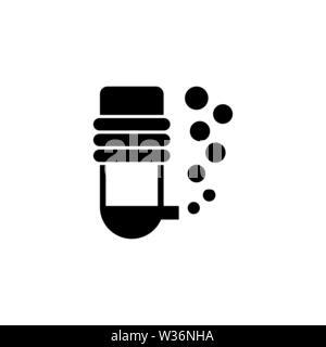 Aquarium oxygen filter vector icon. Simple flat symbol on white background - Stock Photo