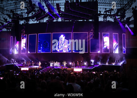 Milan, 12th of July. MUSE performs live @ Stadio Giuseppe Meazza di San Siro, Milano. Copyright Davide Merli | Alamy - Stock Photo