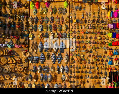 Hoi An, Vietnam - Jul 19, 2018. Colorful magnet souvenirs in Hoi An, Vietnam. The historic old town of Hoi An is UNESCO World Heritage Site since 1999 - Stock Photo