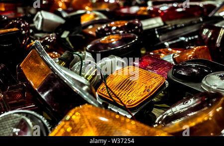 tail lights and signaling - Stock Photo