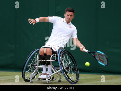 London, UK. 13th July, 2019. Gordon Reid, Great Britain Wheelchair Doubles, 2019. Credit: Allstar Picture Library/Alamy Live News - Stock Photo