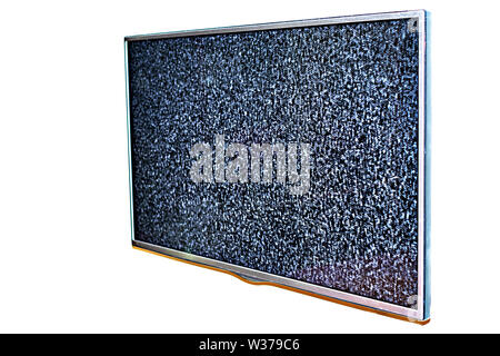 No signal to monitor,Static noise bad tv signal black and white - Stock Photo
