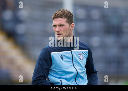 Starks Park, Kirkcaldy, UK. 13th July, 2019. Scottish League Cup football, Raith Rovers versus Dundee; Jack Hamilton of Dundee inspects the pitch before the match Credit: Action Plus Sports/Alamy Live News - Stock Photo