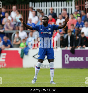 Richmond Park, Dublin, Ireland. 13th July, 2019. Pre season football friendly, St Patricks versus Chelsea; Kurt Zouma of Chelsea FC calls for the pass Credit: Action Plus Sports/Alamy Live News - Stock Photo