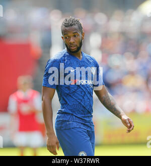 Richmond Park, Dublin, Ireland. 13th July, 2019. Pre season football friendly, St Patricks versus Chelsea; Kasey Palmer of Chelsea FC during a break in play Credit: Action Plus Sports/Alamy Live News - Stock Photo