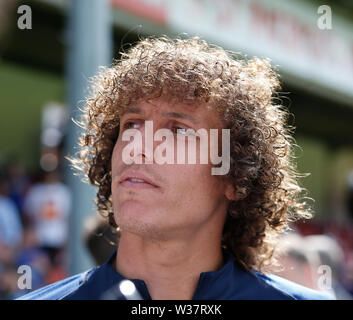 Richmond Park, Dublin, Ireland. 13th July, 2019. Pre season football friendly, St Patricks versus Chelsea; David Luiz of Chelsea FC Credit: Action Plus Sports/Alamy Live News - Stock Photo