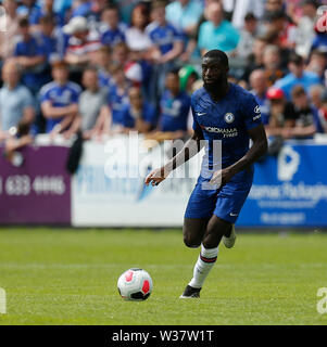 Richmond Park, Dublin, Ireland. 13th July, 2019. Pre season football friendly, St Patricks versus Chelsea; Tiemoue KBakayoko of Chelsea FC brings the ball forward Credit: Action Plus Sports/Alamy Live News - Stock Photo
