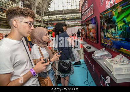 London, UK. 13th July, 2019.London, UK. 13th July, 2019. Hyper Japan Festival 2019 - Day 2 which features shopping, entertainment, cosplay, fashion and food from Japan on 13 July 2019, Olympia London, UK. Credit: Picture Capital/Alamy Live News - Stock Photo