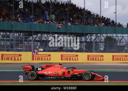 Silverstone Circuit. Northampton, UK. 13th July, 2019. FIA Formula 1 Grand Prix of Britain, Qualification Day; Scuderia Ferrari, Charles Leclerc Credit: Action Plus Sports/Alamy Live News - Stock Photo