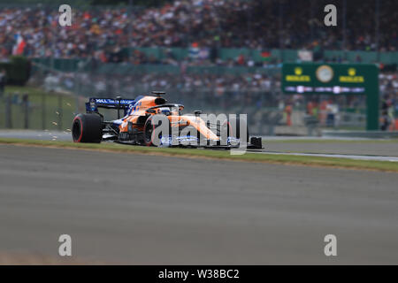 Silverstone Circuit. Northampton, UK. 13th July, 2019. FIA Formula 1 Grand Prix of Britain, Qualification Day; McLaren, Carlos Sainz Credit: Action Plus Sports/Alamy Live News - Stock Photo