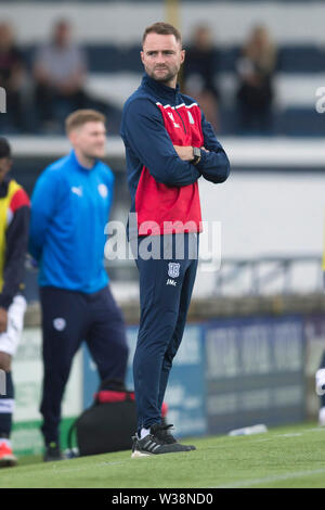 Starks Park, Kirkcaldy, UK. 13th July, 2019. Scottish League Cup football, Raith Rovers versus Dundee; Dundee manager James McPake watches the action Credit: Action Plus Sports/Alamy Live News - Stock Photo