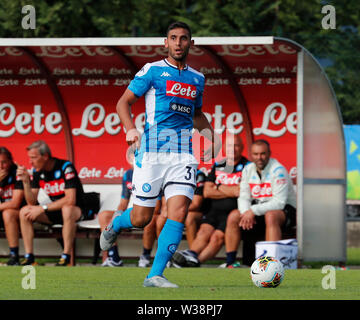 Stadium Carciato, Dimaro, Italy. 13th July, 2019. Pre-season football freindly, Napoli versus Benevento; Faouzi Ghoulam of Napoli Credit: Action Plus Sports/Alamy Live News - Stock Photo