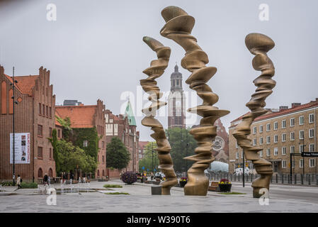Points of View, a bronze sculpture in Malmo, sweden, May 21, 2019 - Stock Photo